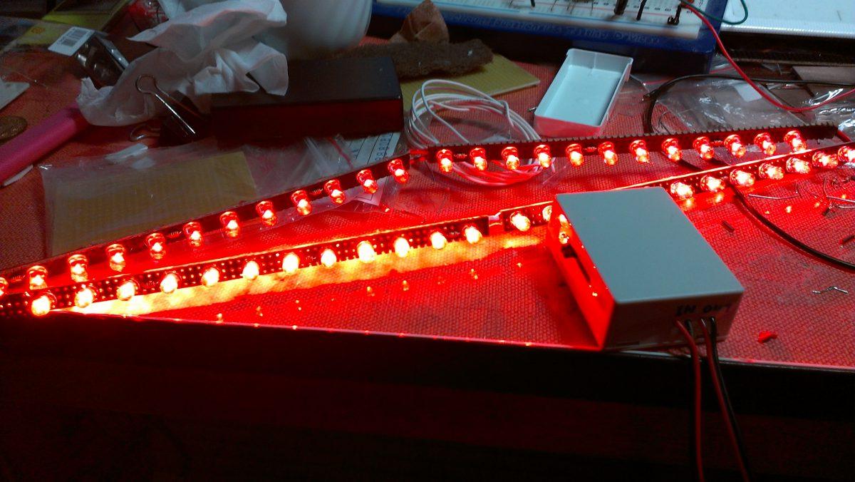 LEDバーと調光ユニットの製作