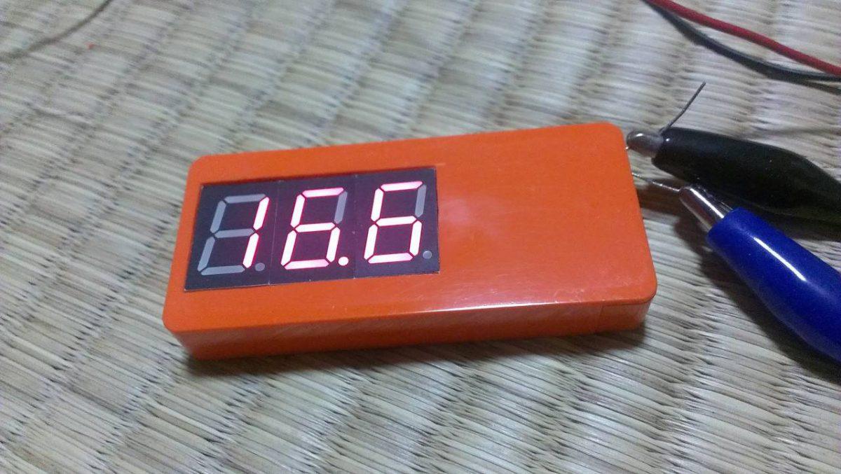 ATtiny2313を使った電圧計